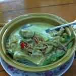 魚のグリーンカレー