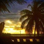 Sunrise from beach front house veranda