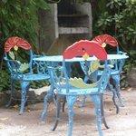 sedie in giardino