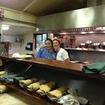 Sarah, the owner, on the right with assistant chef