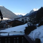 The Alps and Morzine from our balcony