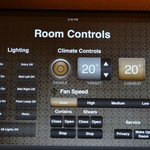 The iPad to control the room