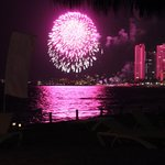 Fireworks from the beach