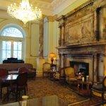 The cozy foyer