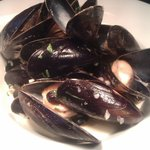 Mussels from the light meals menu £5