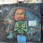Grafitti en Vila Madalena, muy famoso, tiene su historia
