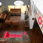 Sunken lounge and dining room