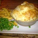 chicken and mushroom pie yum!!