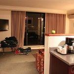 sala / cozinha do apartamento