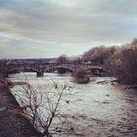 Newton Stewart, riverside. About a mile