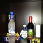 Bar cabinets.