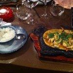 curry de poulet au basilic thaï
