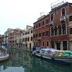 Ca dei Polo, far right, Building with Arched Windows
