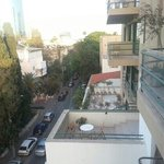 our view of Mazeh street from a 5th floor suite