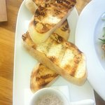 Grilled sour dough with balsamic salt?