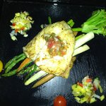 Grouper with pineapple salsa