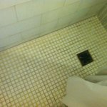The worst shower floor I've ever seen in a hotel