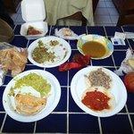 Tacos and salsa para llevar, back at the casa