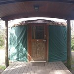 Porch and Front Door of Yurt