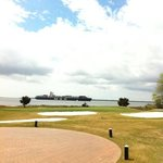Neat view of Charleston Harbor from the course