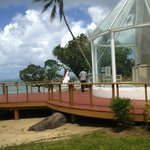 Wedding chapel on island