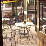 outdoor seating and patio