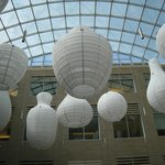 Lanterns in the Gilman Hall atrium