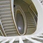 Spiral stairway inside Gilman Hall