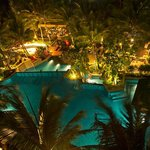Night view of pool from Karon Suite