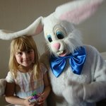 My daughter loved the Easter bunny!
