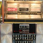 Old style juke boxes (don't think they work, but love the touches like this)
