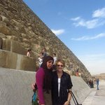 Hoda, our guide and Walid's Queen (my mother)
