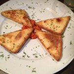 Fried Cheese Meza  -Homemade cheese. Deep fried to a golden brown color and served with ajvar