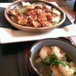 Pulpo and Gambas. It was super yummy!