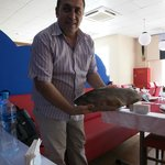 Our 3.7kg fresh fish!