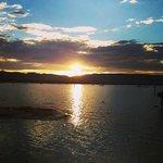 Lake Fyans at sunset