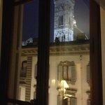 Vista notturna campanile di Giotto dalla camera n° 3