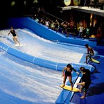 Double FlowRider surf machine, coolest playground in Phuket.
