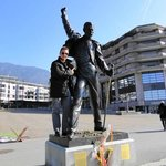 AWESOME STATUE OF FREDDY MERCURY IN MONTREUX, SWITZERLAND.