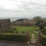 view from Bay View room overlooking garden