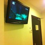 TV overlooking the bed