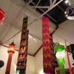 Ceiling hangings in Thai Elephant. Swansea