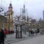 The Hauptwache, Frankfurt, Alemania.