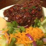 ribs and a salad