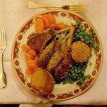 A delicious rack of lamb