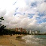 Beach view outside Hotel La Playa
