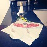 Strawberries and chocolate..and wine!
