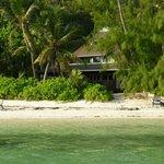 Bungalow vue de la plage