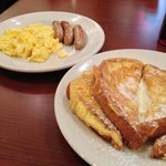 French Toast, Scrambled eggs & sausages