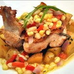 Roasted Goffle Farm Chicken- summer succotash, new potatoes & herb butter